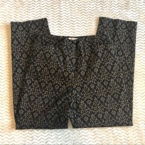 Talbots stretch black/brown pants NWOT size 10